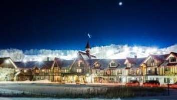 Boyne Highlands Resort in Harbor Springs is a great Michigan destination across the seasons. Enjoy golf, zip-lining or skiing and dog-sledding. Photo courtesy of Boyne Highlands.