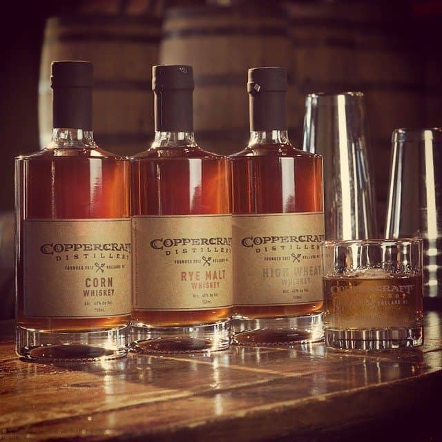 Coppercraft added corn, rye malt and high wheat whiskey to their lineup in 2015. Photo courtesy of Coppercraft Distillery