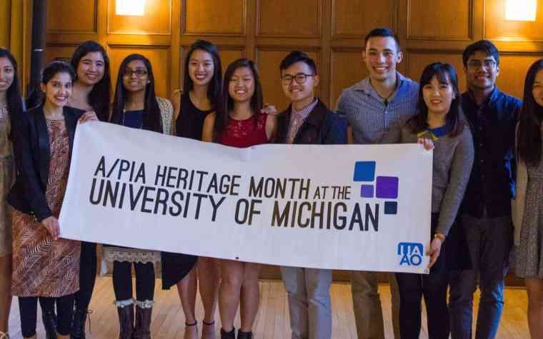 Students from the University of Michigan celebrate Asian/Pacific Islander American Heritage Month. Photo courtesy of UM Asian/Pacific Islander American Heritage Month Facebook.