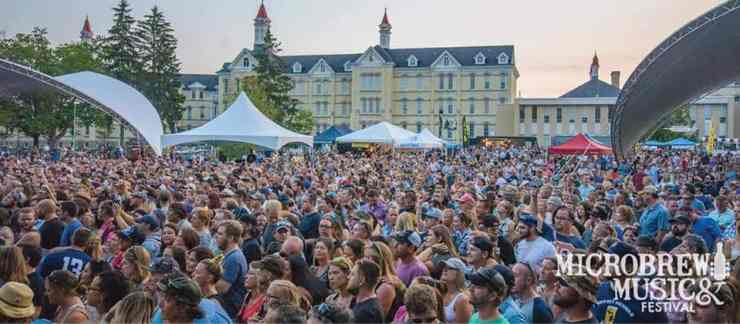 Craft beer and music in Traverse City. What more could you ask for? Photo courtesy of Microbrew & Music Festival