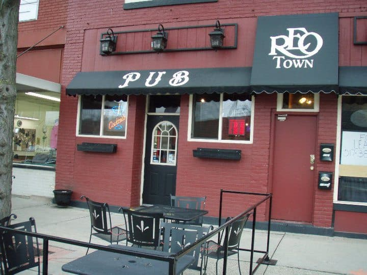 REO Town in Lansing is starting to boom again, and you can get a front row seat on the spacious patio at REO Town Pub. Photo courtesy of REO Town Pub