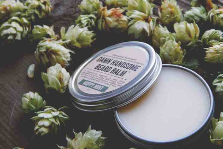 Damn Handsome's products are made with by-products of the brewing industry, such as this hop infused, vitamin-rich Beard Balm. Photo courtesy of Damn Handsome Grooming Co.