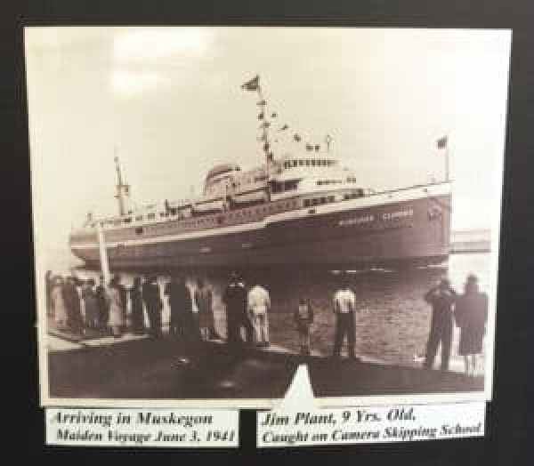 Jim Plant as a 9-year-old watching the S.S. Milwaukee Clipper come in to Muskegon. Photo courtesy of Jennifer Polasek.