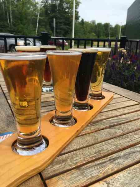 A flight at Upper Hand Brewery. Photo courtesy of Jennifer Symons.
