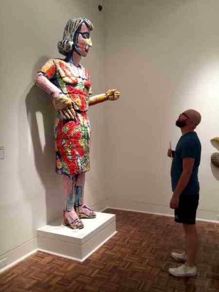 Jonathon Arntson experiencing art. Photo courtesy of Joanna Dueweke.