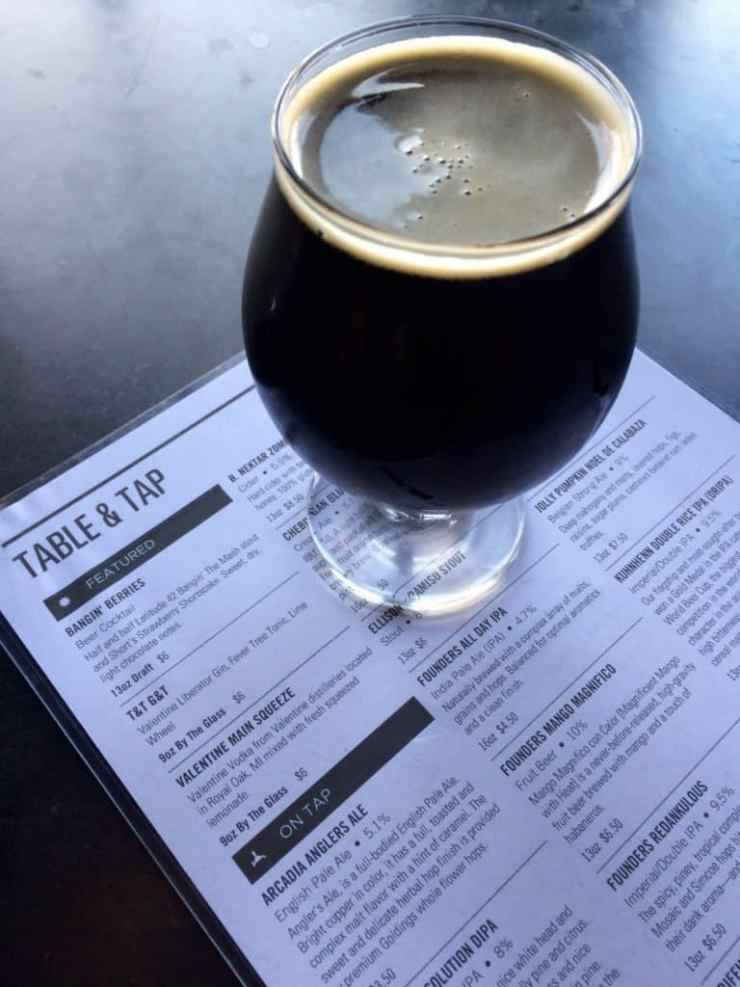Sipping on a Bangin' Berries at Table and Tap. Photo courtesy of Joanna Dueweke.