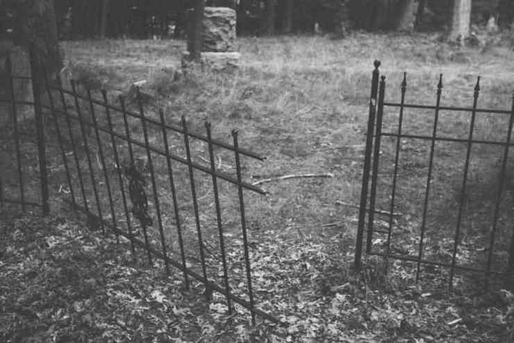 Section of Mouth Cemetery fence | Photo by Gideon Hunter