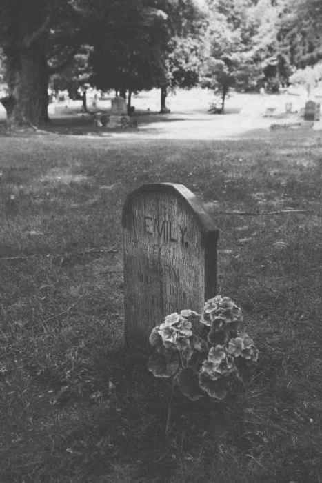 "The wooden ""Emily."" grave 