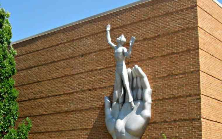 Marshall Fredericks Sculpture Museum Youth in the Hands of God