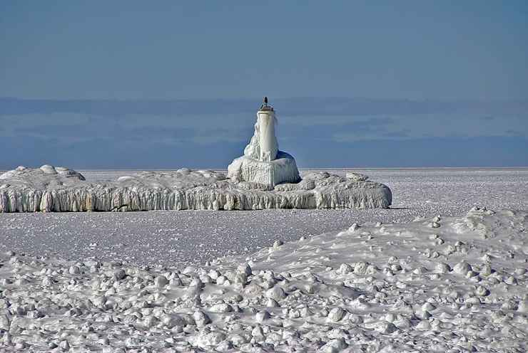 Petoskey Pierhead Lighthouse. Photo courtesy of WCMU.