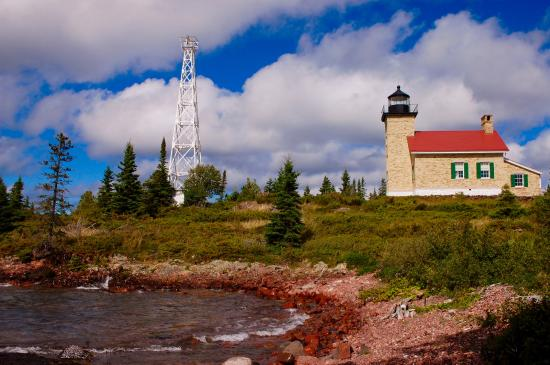 Lighthouse in Copper Harbor - Upper Peninsula Road Trip - The Awesome Mitten