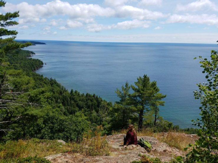 Lake Superior from Bare Bluff in Copper Harbor - Samantha Ward - The Awesome Mitten