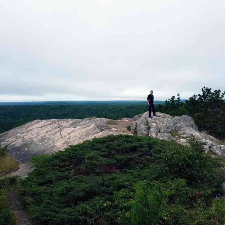 The vertical climb is worth the view at Hogsback in Marquette - Samantha Ward - The Awesome Mitten