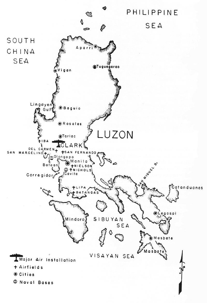 Island of Luzon in the Philippine Sea