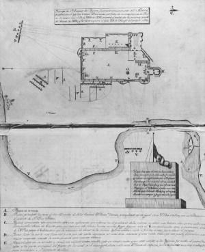 Diagram of the Alamo Mission