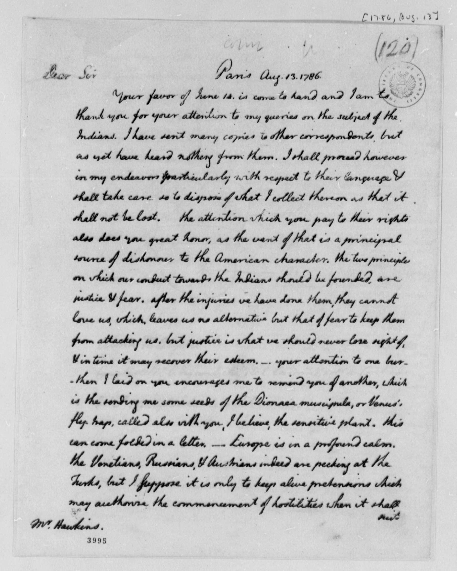 Thomas Jefferson on Native Americans