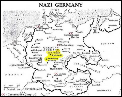 Location of Buchenwald Concentration Camp