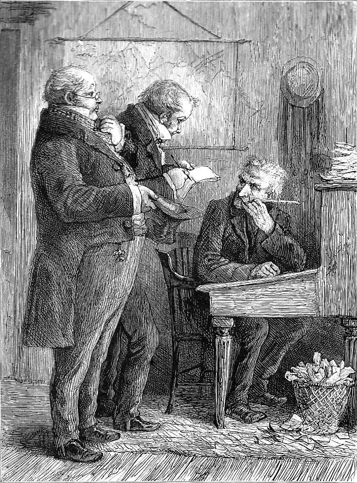 Scrooge at His Desk