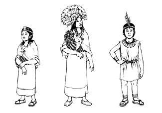 Drawing of Inca Children