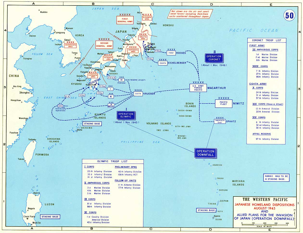 Japanese Home Islands Invasion Map