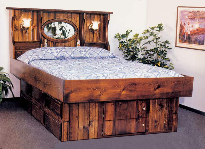 Waterbed Crestwood With Lamps Complete HBFRdeck6D Ped Q