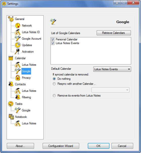 AweSync - Calendar Google Settings