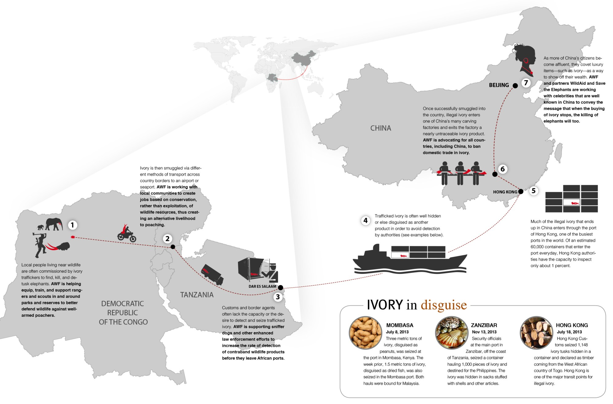 hight resolution of download the infographic to see the path of the ivory trade