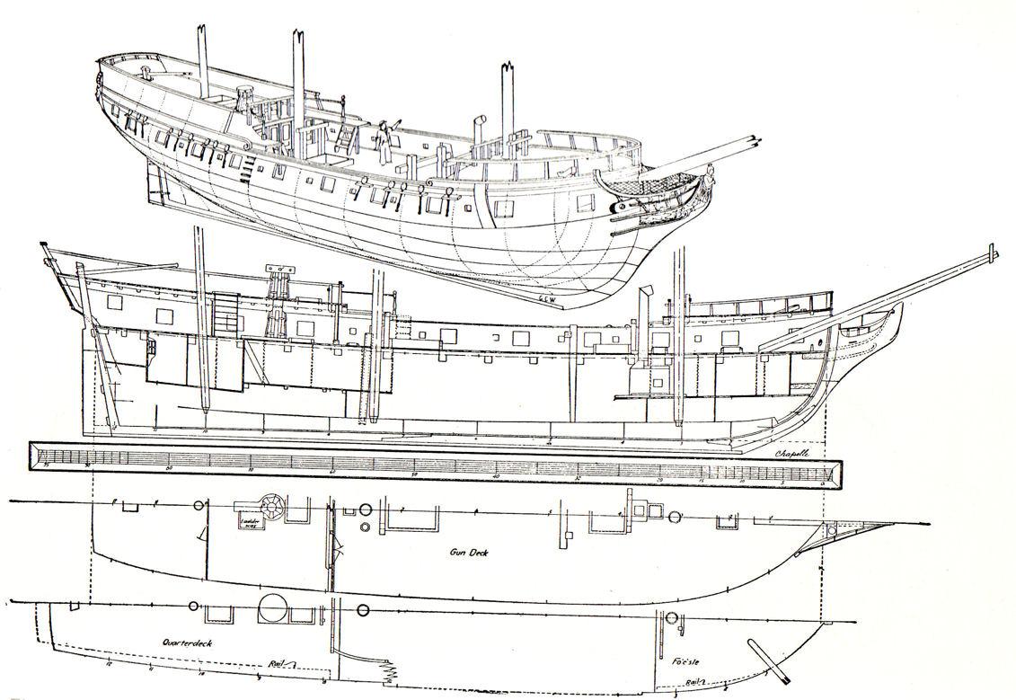 Massachusetts Privateer Ship Rattlesnake Clark
