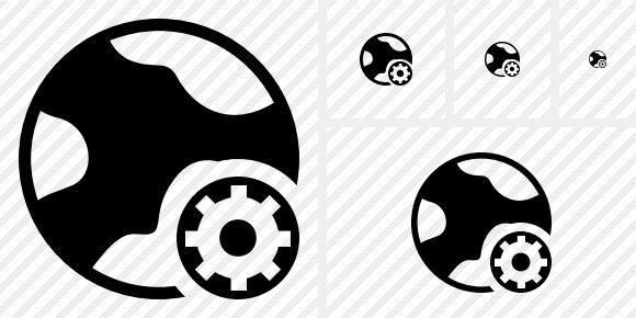 Internet Settings Icon. Symbol Black. Professional Stock