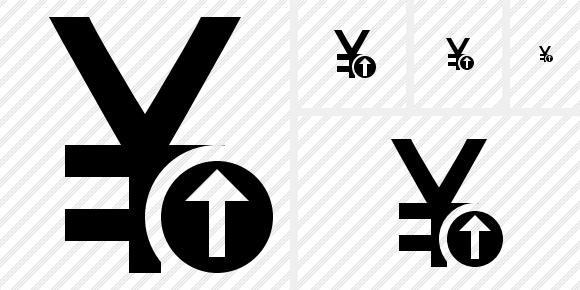 Yen Yuan Upload Icon. Symbol Black. Professional Stock Icon and Free Sets - awicons.com