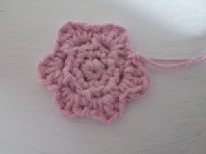 crocheted flower hair bobble