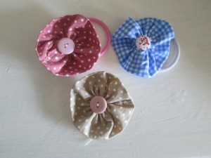 fabric flower hair bobble