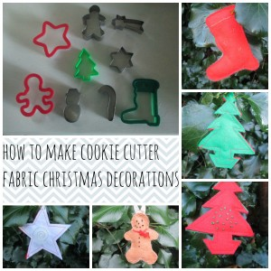 fabric Christmas decorations cookie cutter