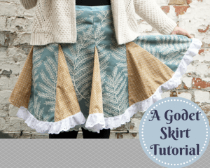 godet skirt tutorial