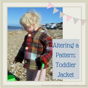 altering a pattern toddler jacket