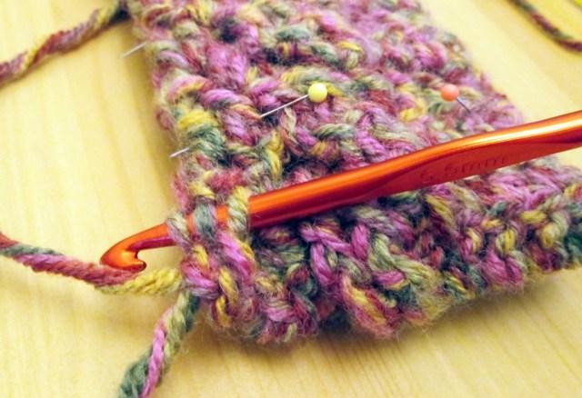 crocheted phone cosy