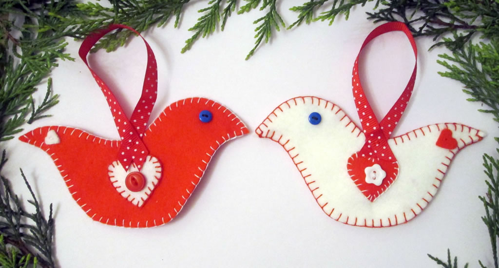 felt bird christmas decoration 12 things to sew in the autumn how to applique