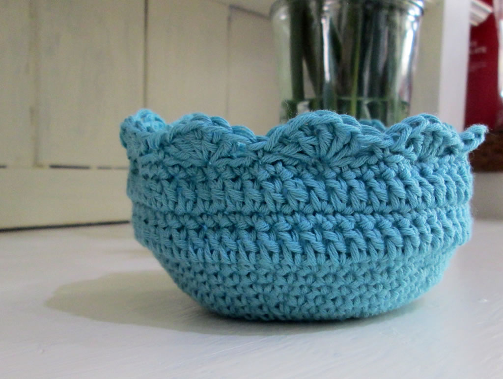 A Crocheted Bowl Pattern