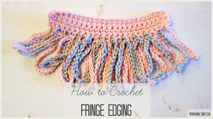 how to crochet fringed edging