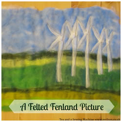 collage felted fenland picture