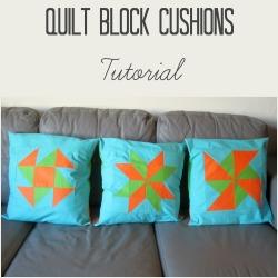 quilt block cushions square