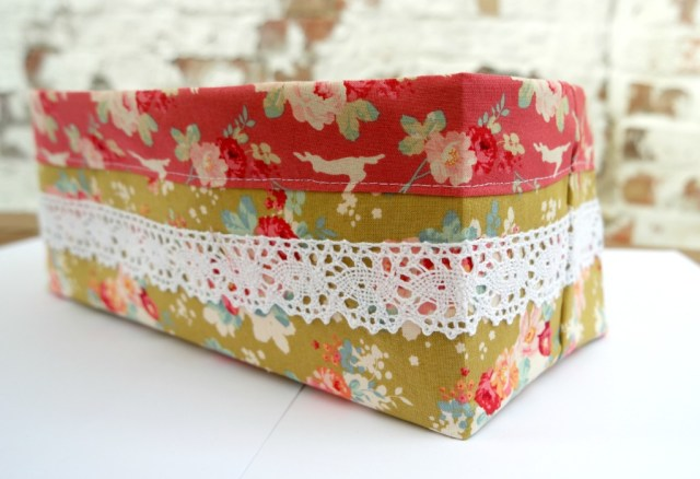 how to make quick easy fabric basket tutorial tilda bloghop