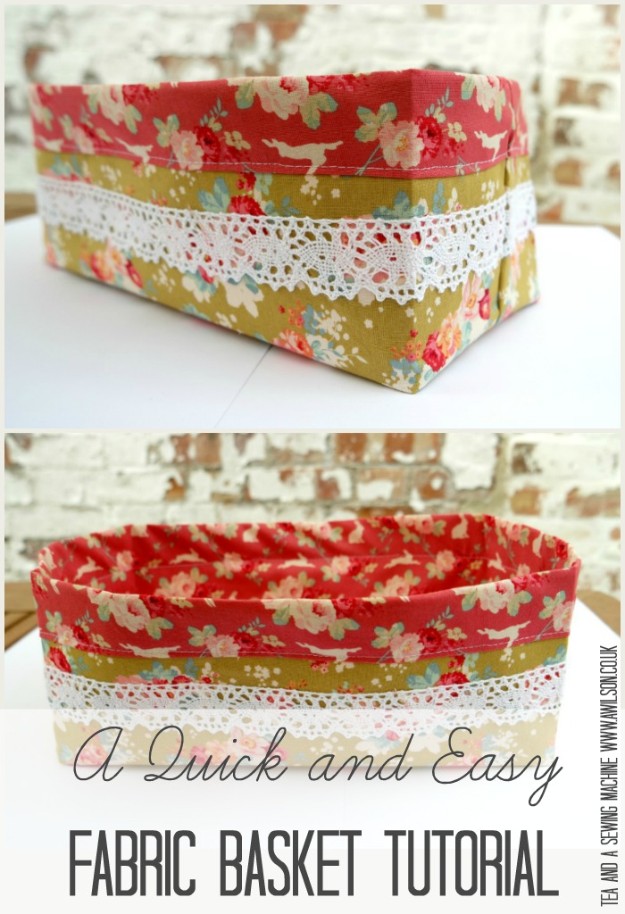 How to make a quick and easy fabric basket