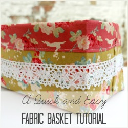 tilda fabric basket square