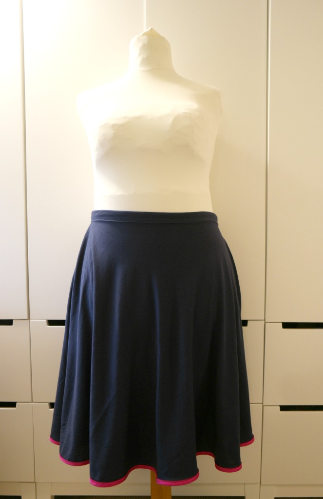 how to sew a half circle skirt tutorial