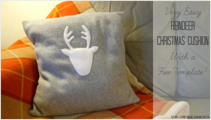Reindeer Christmas Cushion Tutorial