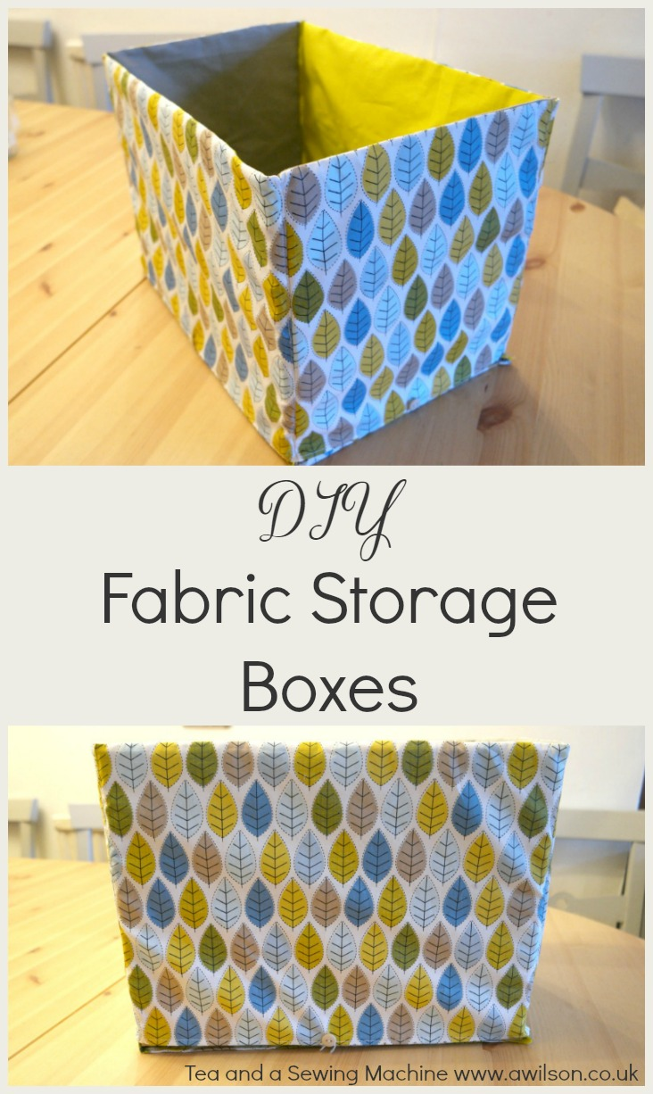 how to sew storage boxes