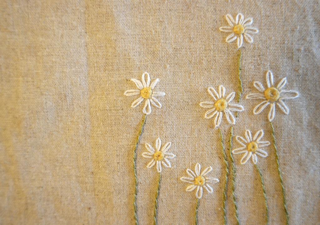 woven wheel stitch