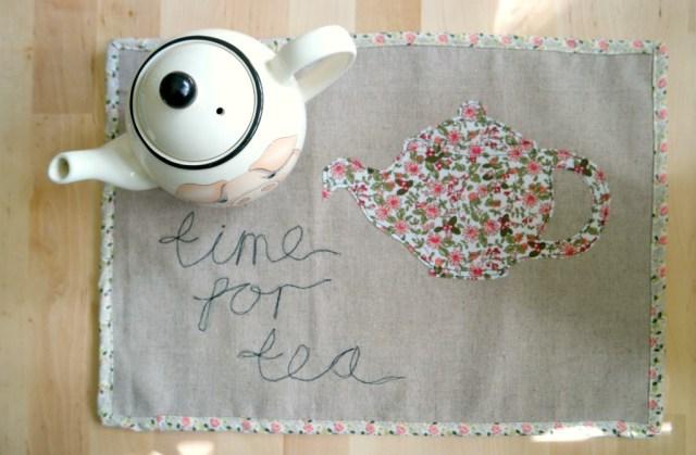 how to sew a tea mat tea tray cloth