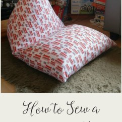 How To Sew Bean Bag Chair Beige Leather Dining Chairs A